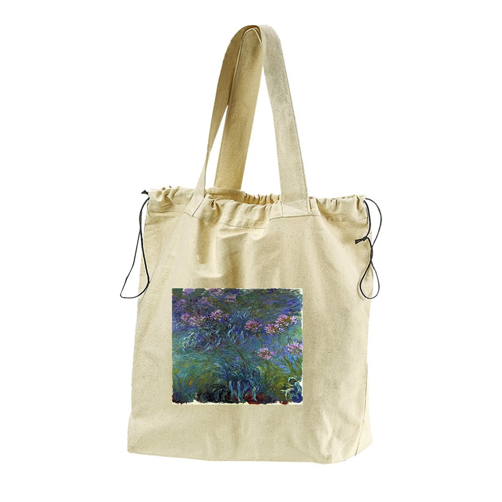 Jewelry Lilies #2 (Monet) Canvas Drawstring Beach Tote Bag