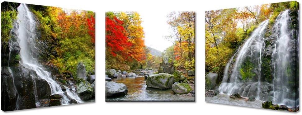 Kreative Arts - Giclee Canvas Print Landscape Canvas Wall Decor 3 Pieces Tree Canvas Wall Art - Waterfall Photo Canvas Art Print - Home Decor/Office Decor/Living Room Decor