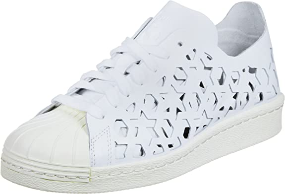 adidas superstar 80 tagliata le donne scarpe bianche