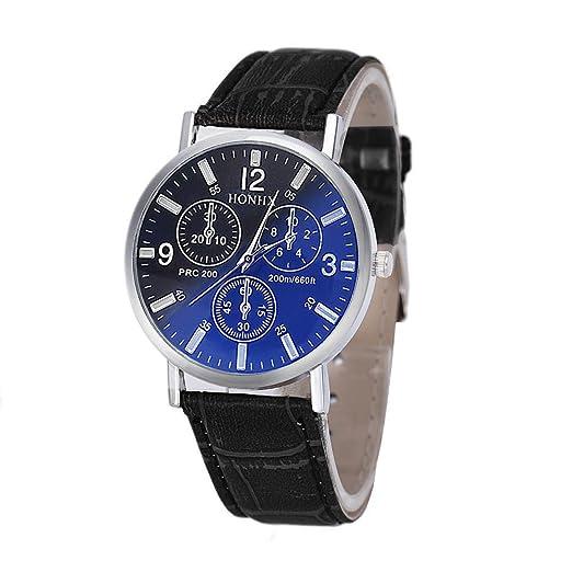 VEHOME Relojes Inteligentes relojero Reloj reloje hombresRelojes de Pulsera Marcas Deportivos-Reloj de Pulsera analógico Estilo BLU-Ray Business de ...