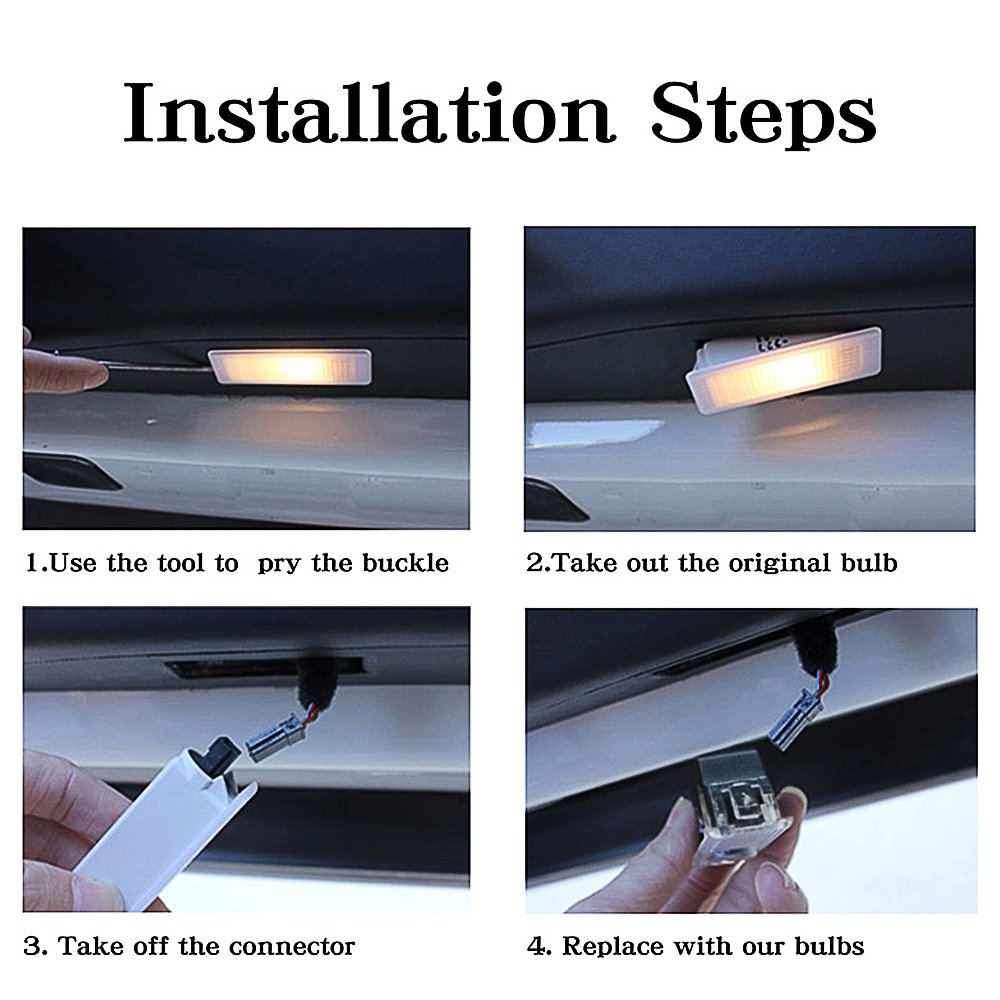 Kanuoc 4 Pack Audi Easy Installation Car Door Led Logo How To Install A Light Fixture Tools And Materials Projector Step Courtesy Laser Welcome Lights Symbol Emblem