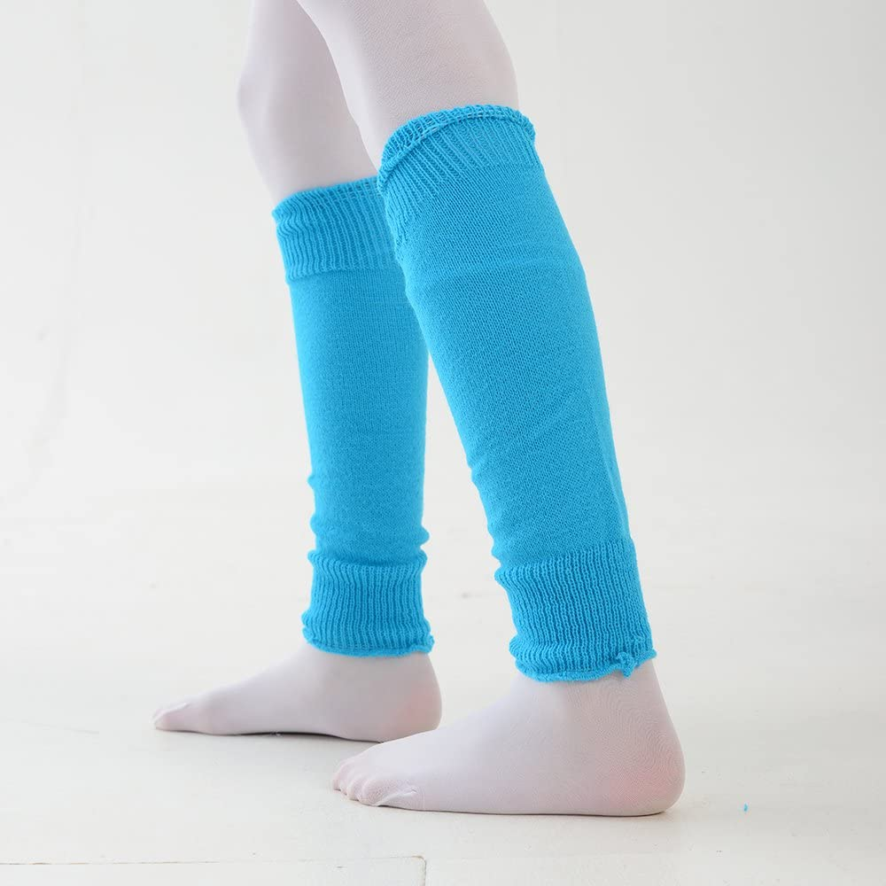 Glittery Fashion Winter Leg Warmers One Size in 22 Colours Girls Ballet Dance Plain