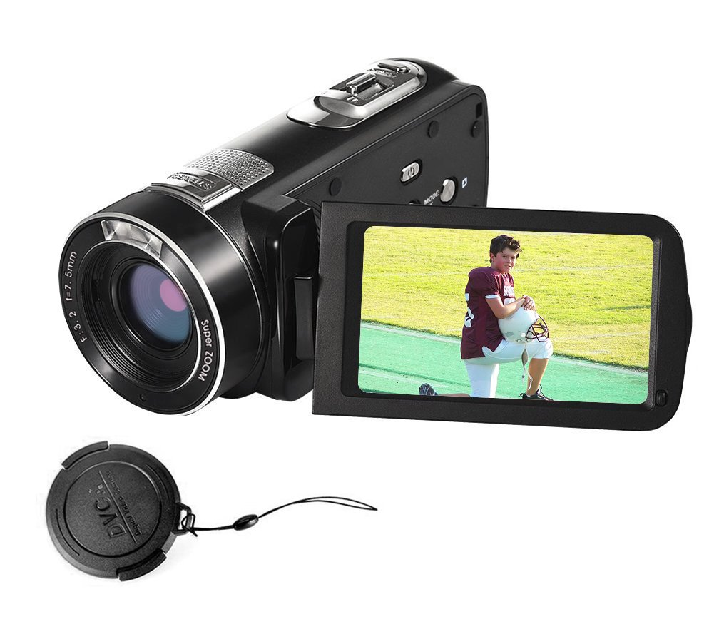 "SEREE Video camera Full HD 1080p 24.0MP Video Camcorder 3.0"" LCD 270° Rotation Screen Digital Camera with Remote Control"