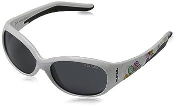 Alpina Kinder Sonnenbrille Flexxy Teen Outdoorsport-Brille, White-Orange, One Size
