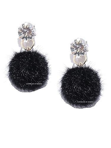 909ef36cbadb7 Buy OOMPH Jewellery Black Pom Pom Drop Fashion Earrings for Women ...