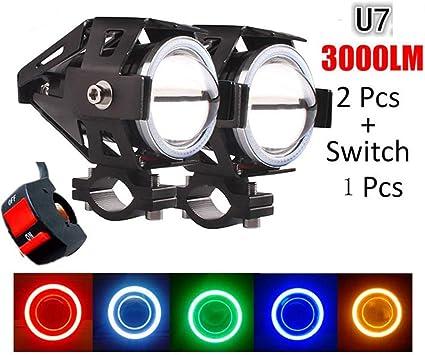 125/W LED 3000/lm Phares avant de moto PROZOR avec commutateur /à 3/boutons