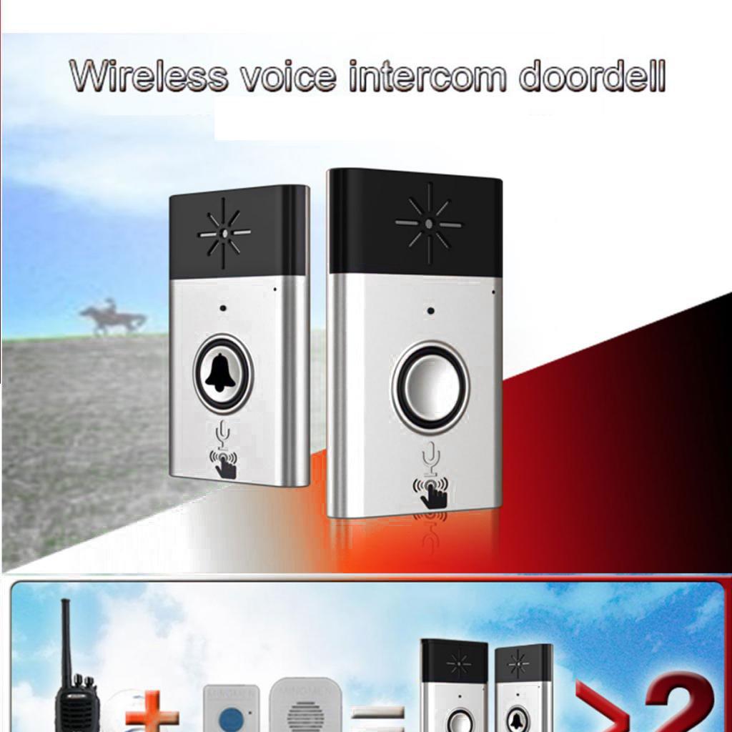 1//2//3 Ricevente 2 Trasmettitori+2 ricevitori MagiDeal Chimica del Campanello Senza Fili Wireless di 200m con Citofono Vocale 1//2 Trasmettitore