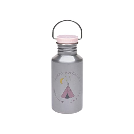 LÄSSIG Botella de acero inoxidable para niños Botella de ...