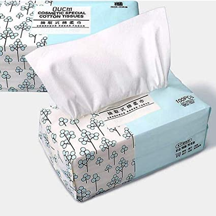 OUKAIDE-100 % algodón suave, toalla facial desechable y extraíble ...
