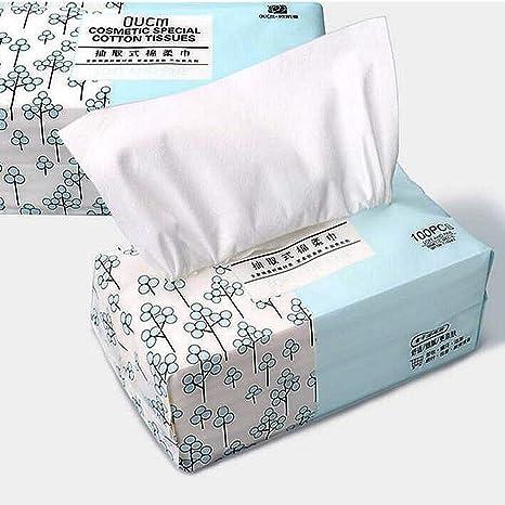 OUGEER Almohadilla algodón 100% suave,toallita de algodón no tejida descartable desechable, toalla
