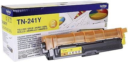 Brother TN241Y - Cartucho de tóner amarillo original para las impresoras HL3140CW, HL3150CDW, HL3170CDW, DCP9015CDW, DCP9020CDW, MFC9330CDW, ...
