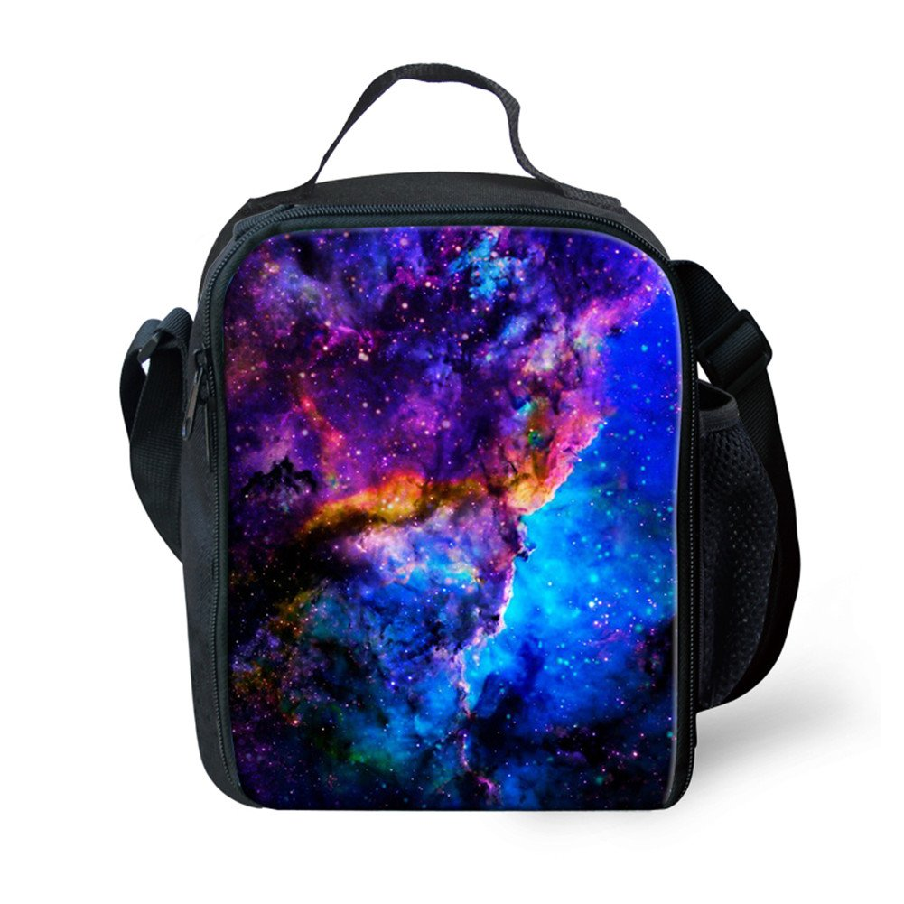 instantartsクラシックUniverse GalaxyスタイルInsulated Lunch Toteピクニックバッグfor Kids 24x19x8CM P-C0164G  Galaxy-4 B078XSLR6K