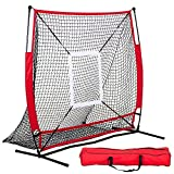 Topeakmart 5 x 5' Softball Practice Net Baseball Training Screen, w/Carry Bag
