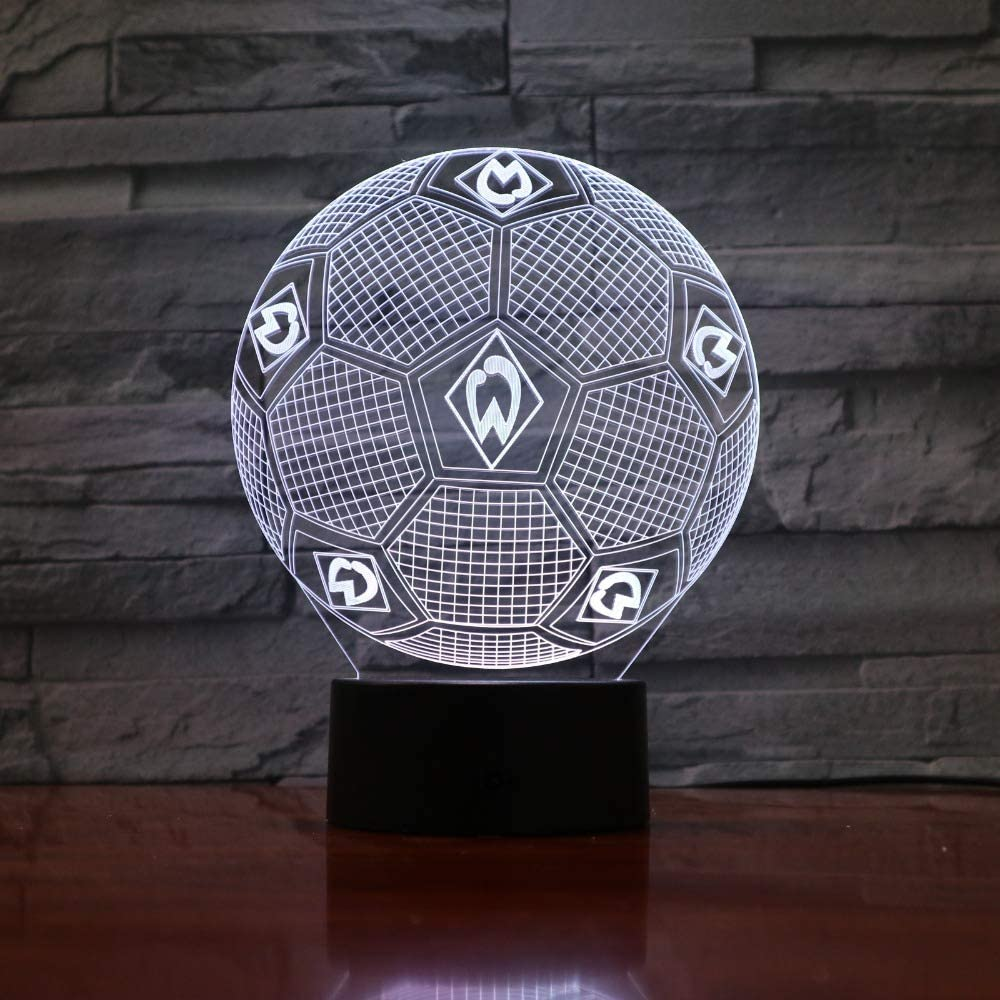 Lxkem - Lámpara de luz nocturna en 3D, 7 colores que cambian ...