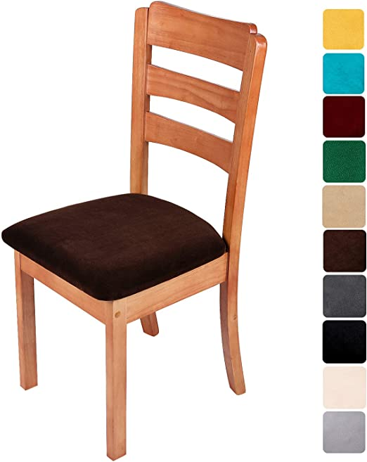 2  Burgundy Stretchable Seat Covers Cover Protector Dining Chair Replacement S