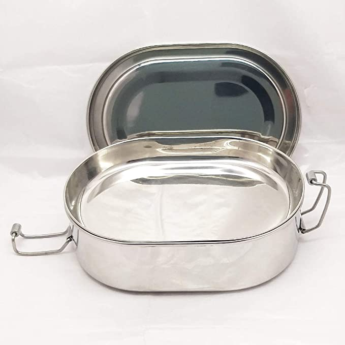 85a816fc6190 Amazon.com: IndiaBigShop Stainless Steel Capsule Shape Lunchbox ...