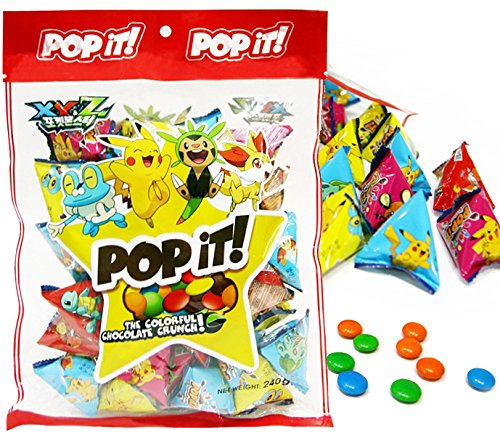 Pockemon POPiT Chocolate 17oz Colorful Chocolate Crunch (Individual Packaging)