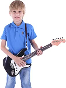MRKE Guitarra Electrica Niños 67cm 6 Cuerdas Rock Juguete de ...