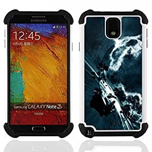- Space Planet Galaxy Stars 3 - - Doble capa caja de la armadura Defender FOR Samsung Galaxy Note3 N9000 N9008V N9009 RetroCandy