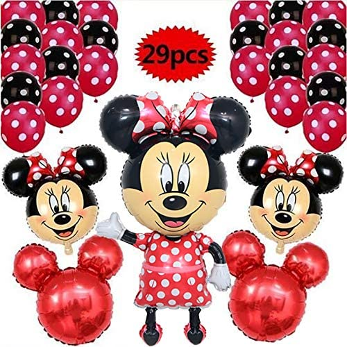 LIZHIQQ 29pcs / Lot 110CM Minnie Mickey Mouse Globos De La Hoja ...