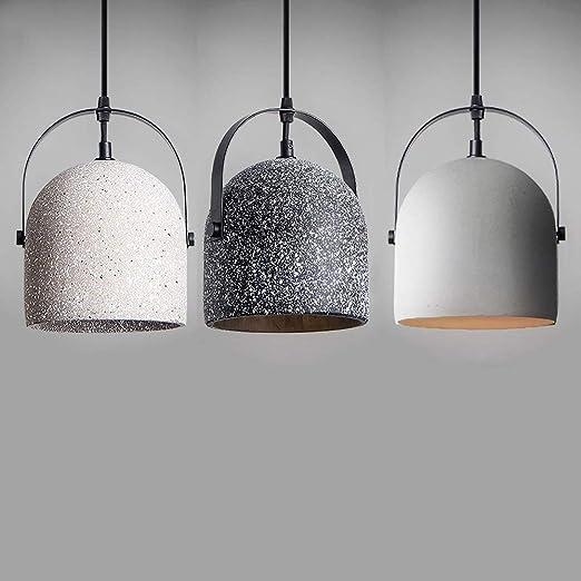 Lámpara colgante de cemento industrial de 3 paquetes - 1 llama ...