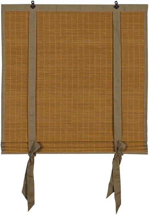 Estor enrollable YXX Instalación Interior/Exterior de persiana Enrollable, Cortinas enrollables de bambú sin Cuerda para Ventanas/Puertas, Protector Solar UV, personalización de Soporte: Amazon.es: Hogar