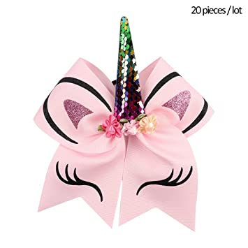 Amazon.com: Lote de 20 lazos de unicornio para fiesta, con ...