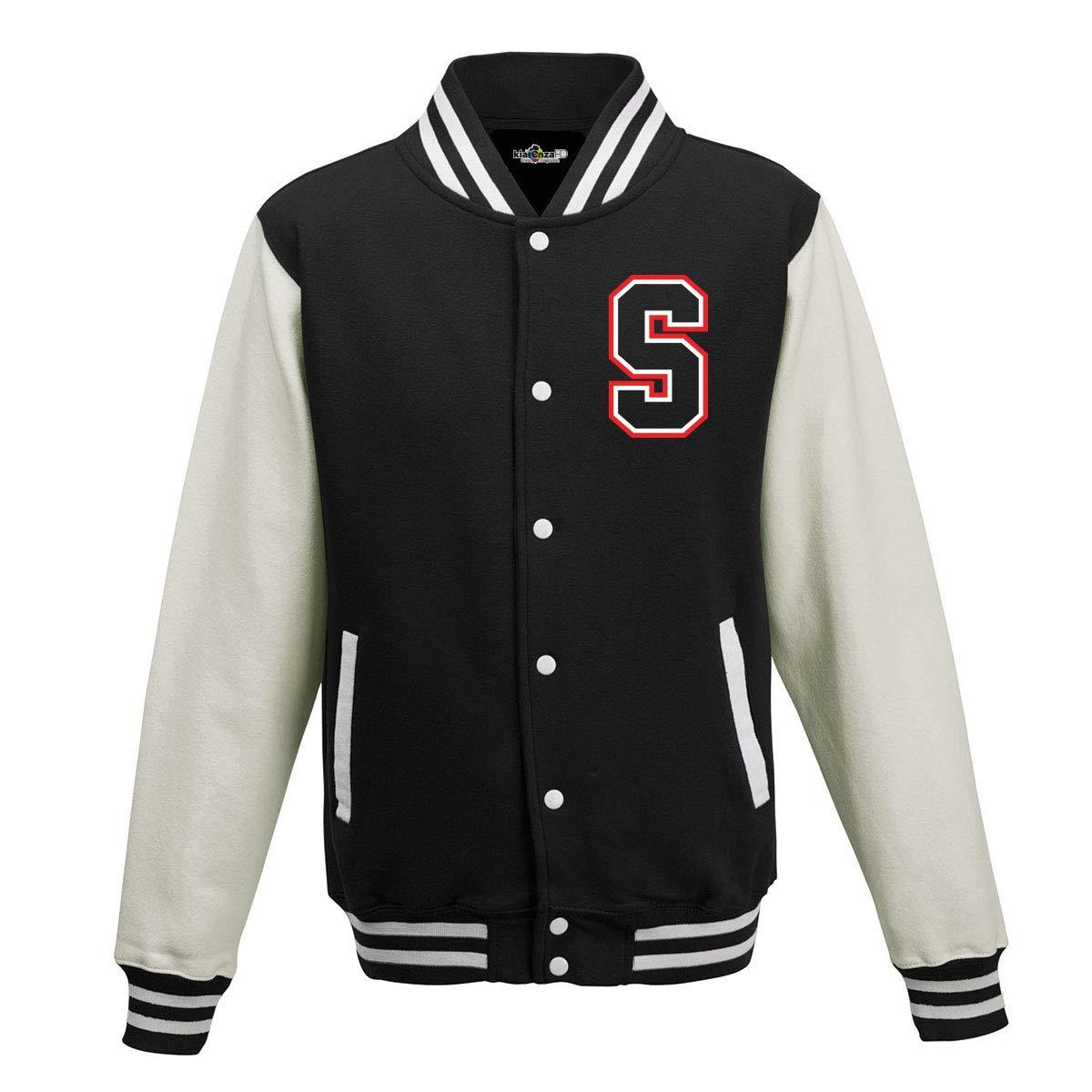 KiarenzaFD Felpa College Jacket Riverdale Serpents Southside Jughead Jones Fronte-Retro