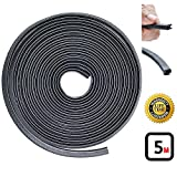 Strongman Tools | 5 Meters / 16.4 Foot | U Shape Rubber Seal Trim Protector & Guard Strip for Cars, Doors, Windows, Child Safety, Weather Proofing!
