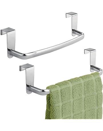 Toallero para Ba/ño Acero Inoxidable Toalleros De Barra Toallero De Pared Estante Gancho Repisas De Toalla Plegable Towel Racks Bathroom Towels Holders,80cm