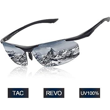 Elegear Gafas de Sol Hombre Polarizadas Gafas Ciclismo Anti Rayos UVA Marco Aleación de Aluminio Magnesio