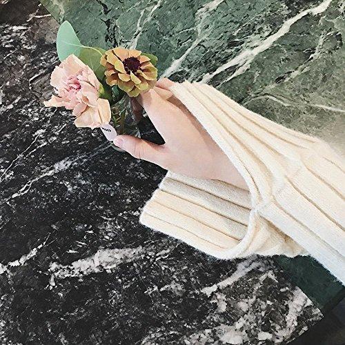 Copertura Copertura Colore di Selvaggia Verticale Maniche Femminile beige Solido Solido L'Autunno Era l'inverno Colore Lunghe e Moda Sottile di Camicia a 4TBZgwq