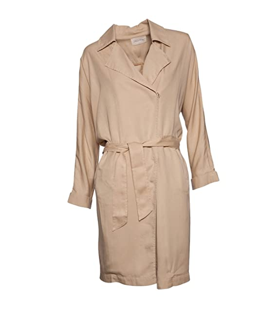 American Vintage - Abrigo - trenca - Básico - para mujer sepia M: Amazon.es: Ropa y accesorios