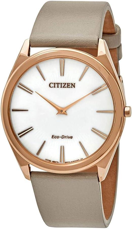 Ladies' Citizen Eco-Drive Stiletto Rose Gold-Tone Watch AR3076-08A