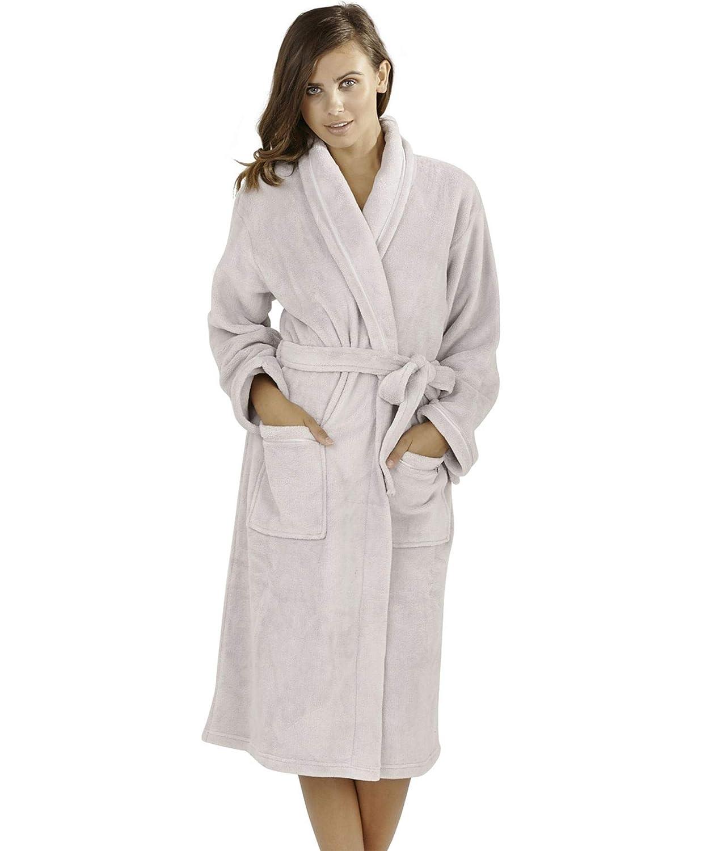 fc8efb8227e89 Robes de chambre Femme Undercover Lingerie Ltd Peignoirs en Molleton de  Corail Doux de Luxe pour Femmes avec col châle Classique