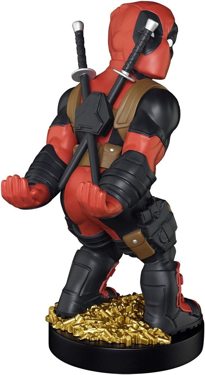 Cable guy Deadpool nueva edición, soporte de sujeción o carga para mando de consola y/o smartphone de tu personaje favorito con licencia de Marvel. Producto con licencia oficial. Exquisite Gaming