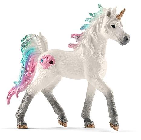 Spielzeugfigur Schleich 70525 Regenbogeneinhorn Fohlen günstig kaufen