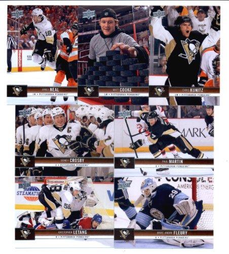 2012-13 Upper Deck Pittsburgh Penguins Series 1- Veteran Team Set-7 Cards with Letang, Fleury, Martin, Sullivan, Cooke, Crosby, & Neal! ()