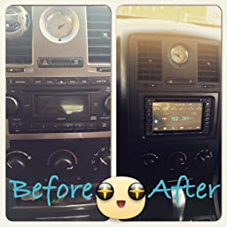 amazon com chrysler 300 2005 2006 2007 radio stereo car install review image