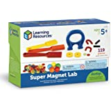 Learning Resources Super Magnet Lab Kit, 119 Pieces
