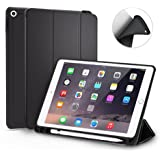 MoArmouz® New iPad 9.7 inch Case [2018 Release] with Pencil Holder [iPad Model A1893, A1954] Trifold Stand Folio Smart Cover Case with Auto Sleep/Wake Function for Apple iPad 9.7 inch - Black