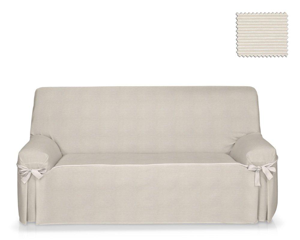 JM Textil Sofa-Husse mit Schleifen Roni Größe 2 Sitzer (von130 bis 180cm), Farbe 01