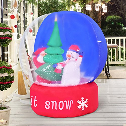 Amaethon Random Shipments 4FT Airblown Inflatable SnowGlobe Christmas Sparkle Light Decor Snowglobe Decoration
