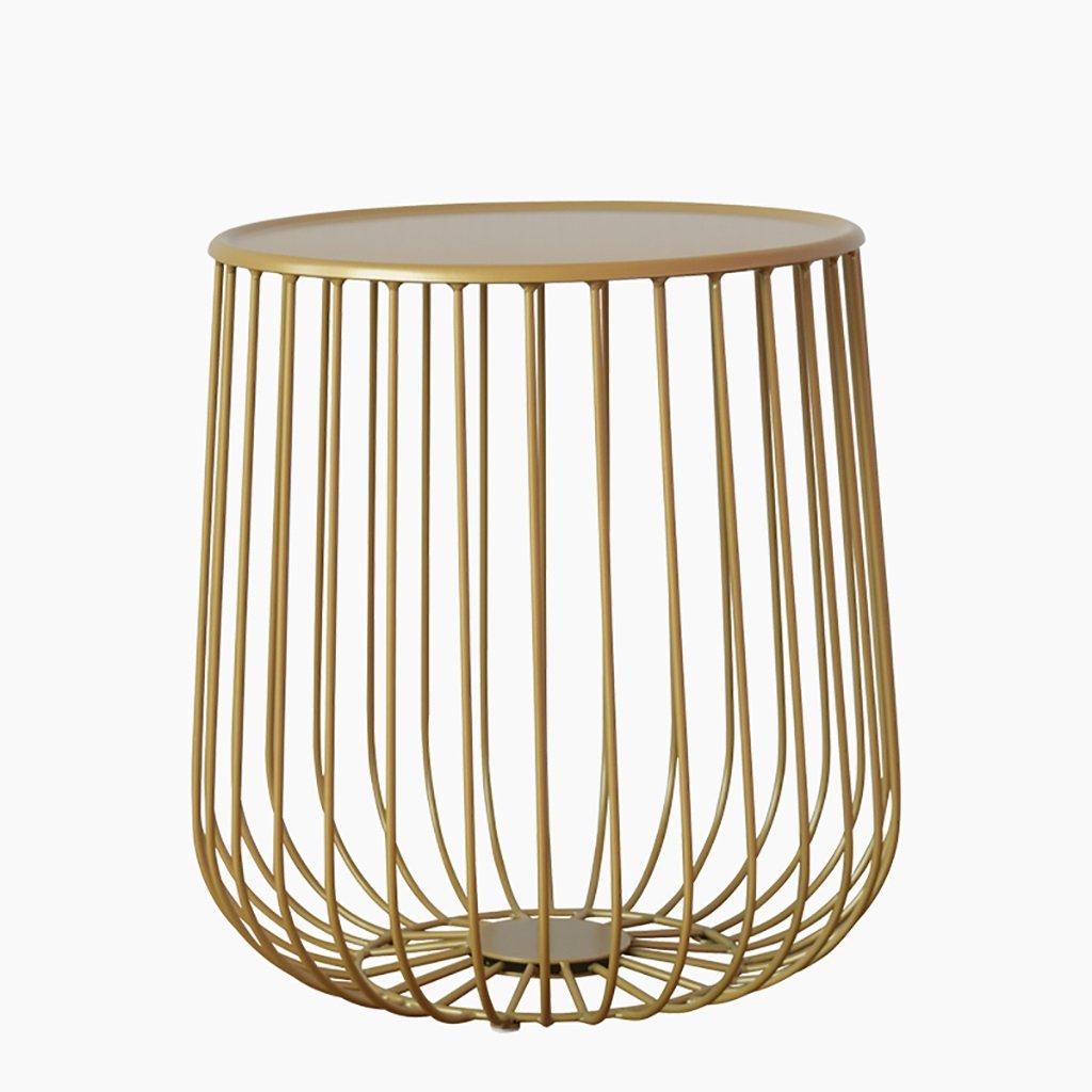 北欧の鉄のソファサイドリビングルームラウンドコーヒーテーブル小さなお茶テーブルレジャーシンプルなシンプルな小さなテーブルサイズ:36.5 * 42センチメートル B07F853ZQ2