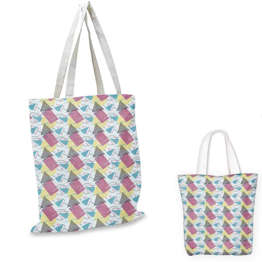 レトロパステルカラーのファンキーな幾何学模様。8種類とNineties Memphis Styleマルチカラー。 14