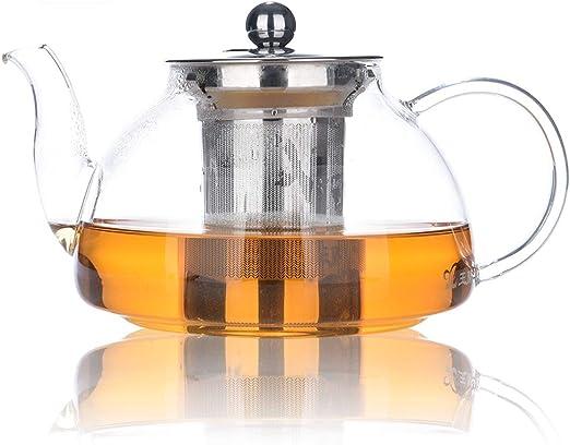Tetera 800ml / 28oz, Tetera de vidrio resistente al calor con ...