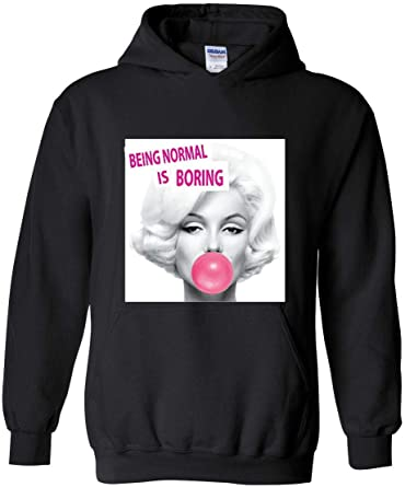 Womans Normal is Boring Sweater Sports Drawstring Hooded