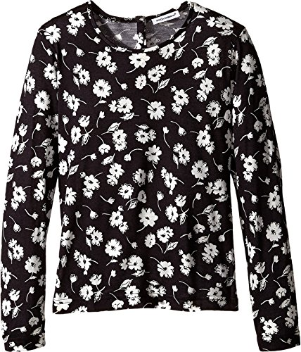 Dolce & Gabbana Kids Baby Girl's City Floral Long T-Shirt (Toddler/Little Kids) White/Black Print 3T Toddler by Dolce & Gabbana