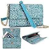Mint Green Paisley Weekender Crossbody Bag For HTC One M9 M9+ M9s A9 E9+ E9s, HTC Desire 828 626G+ 626s   Cases and Covers