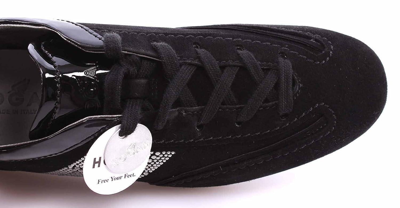 Hogan Scarpe Donna Sneakers Olympia H Microstrass Nere Camoscio Lusso Made  IT  Amazon.it  Scarpe e borse 79b7494d31c